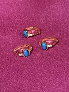 Gouden ring met turquoise