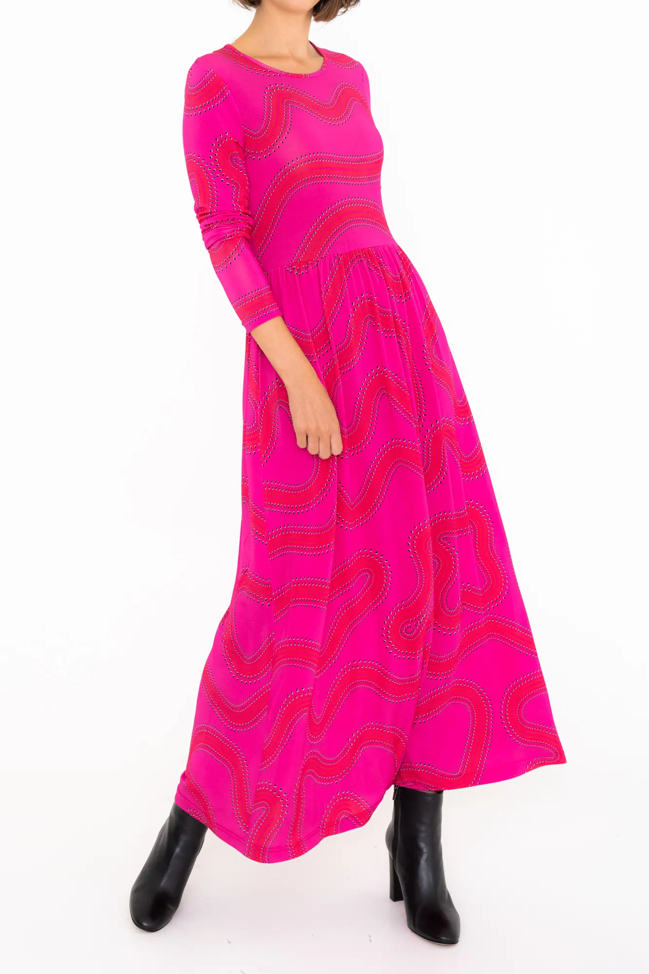Janice print jurk